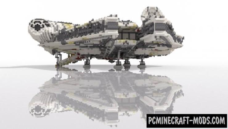 Star Wars Millennium Falcon Map For Minecraft