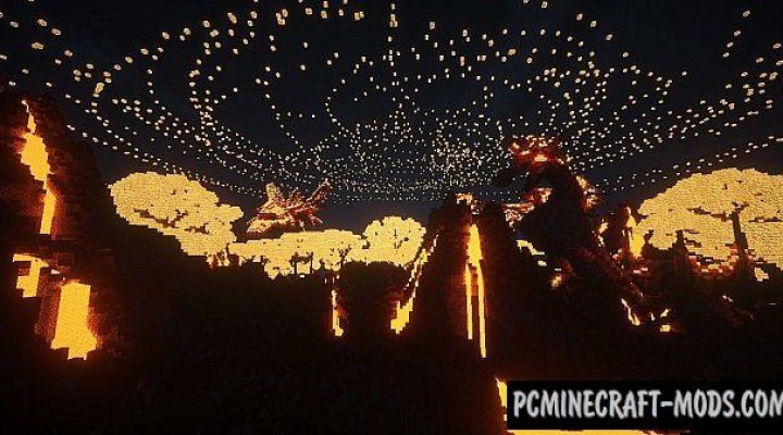 Dragon Survival - 3D Art, Terrain Map For Minecraft