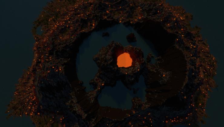Caldera Volcano Map For Minecraft