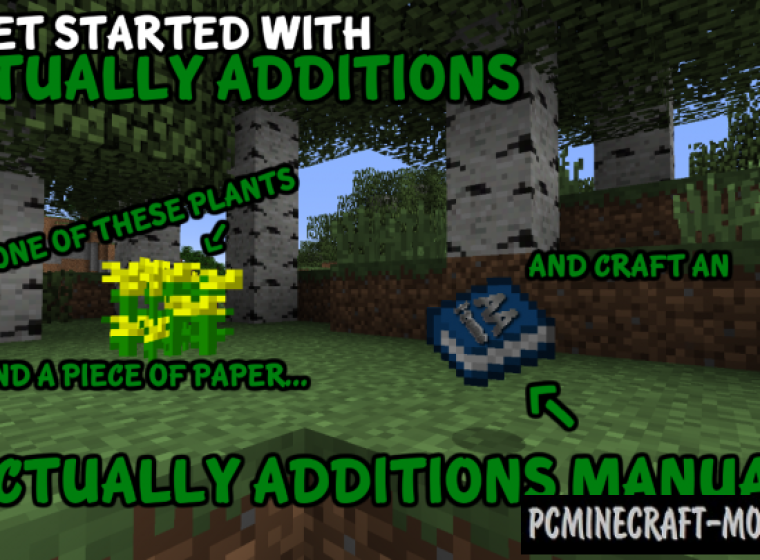 Actually Additions Mod For Minecraft 1.12.2, 1.11.2, 1.10.2, 1.9.4