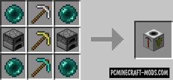 Simple Quarry - Mech Block Mod For Minecraft 1.12.2, 1.10.2