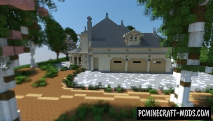 French Country Home Map For Minecraft
