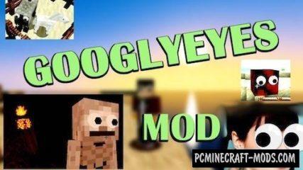 GooglyEyes - Skin Decor Mod Minecraft 1.16.5, 1.12.2