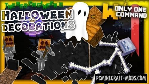 Spooky Halloween decorations Command Block For MC 1.8.9