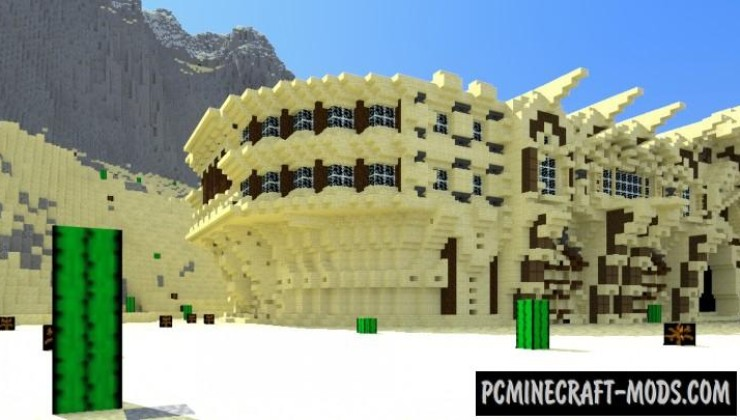 Desert Mansion - House Map For Minecraft