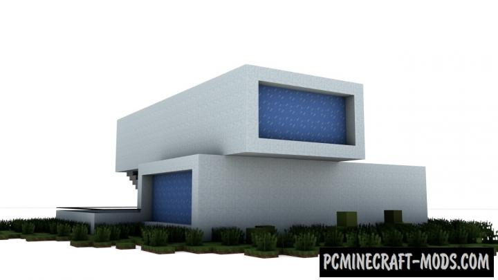 A Modern House Map For Minecraft
