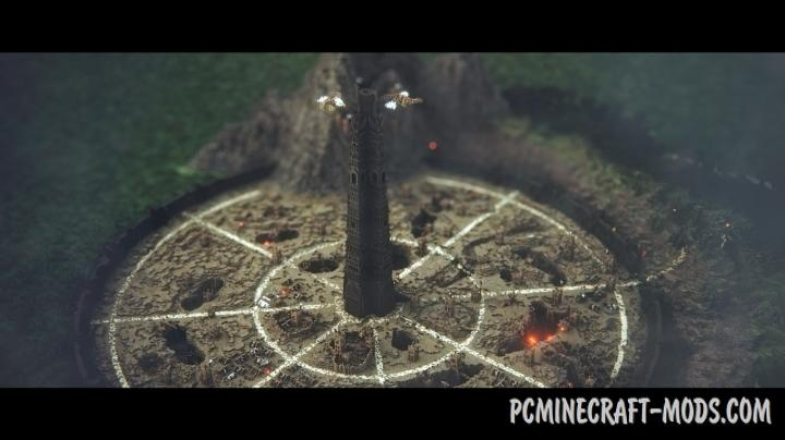 Isengard - Ruined Fortress Map For Minecraft