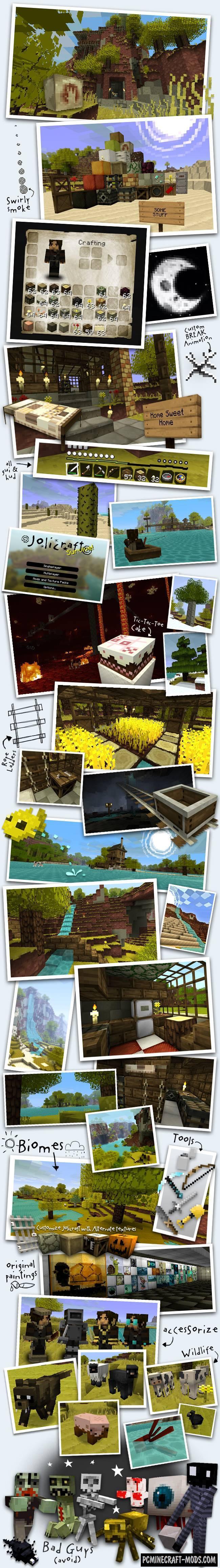 Jolicraft 16x Resource Pack For Minecraft 1.17.1, 1.16.5, 1.16.4