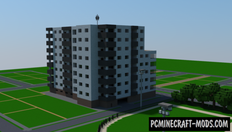 Realistic Apartment Complex Map For Minecraft