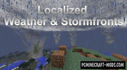 Localized Weather & Stormfronts Mod For Minecraft 1.12.2, 1.11.2, 1.10.2, 1.7.10
