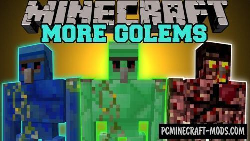 Extra Golems - New Mobs Mod For MC 1.16.3, 1.15.2, 1.12.2