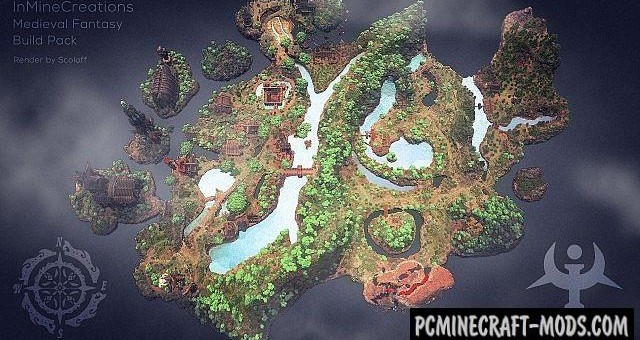 Medieval Fantasy - Town, Buildings Map Minecraft