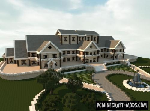 Luxury Mansion Map For Minecraft 1 15 1 14 4 Pc Java Mods
