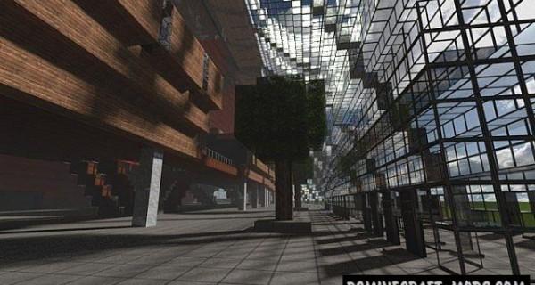 Olympic Stadium - Building, 3D Art Map Minecraft