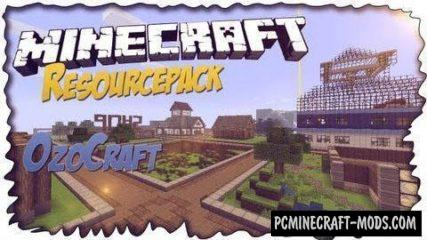 OzoCraft Resource Pack For Minecraft 1.13.2, 1.12.2, 1.10.2, 1.7.10