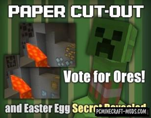 Paper Cut-Out 16x Resource Pack For Minecraft 1.16.3, 1.16.2