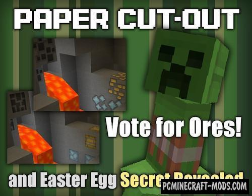 Paper Cut-Out 16x Resource Pack For Minecraft 1.16.4, 1.16.3