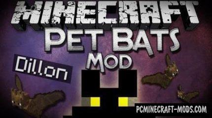 Pet Bat - New Creature Mod For Minecraft 1.14.4, 1.12.2