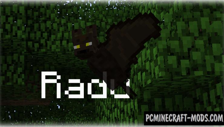 Pet Bat Mod For Minecraft 1.12.2, 1.11.2, 1.10.2, 1.7.10