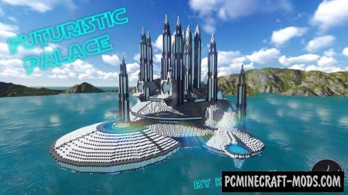 Futuristic Palace - Castle, Building Map For MC