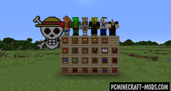 One Piece - Weapons, Mobs Mod For Minecraft 1.12.2, 1.10.2