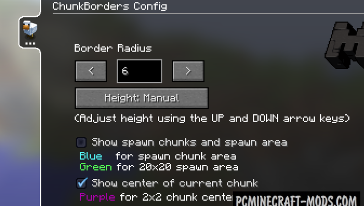 ChunkBorders Mod For Minecraft 1.12.2, 1.11.2, 1.10.2, 1.9.4