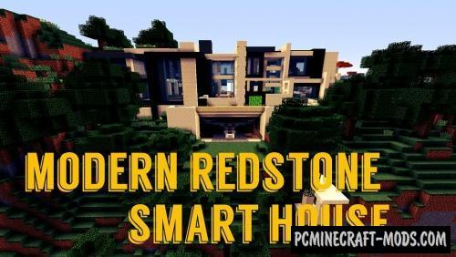 Modern Redstone Smart House Map For Minecraft 1 14 4 1 14