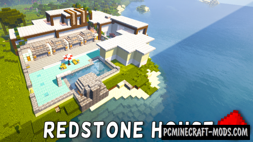 Redstone Modern House Map For Minecraft