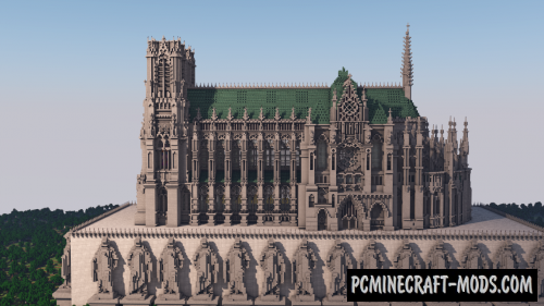 Reims Cathedral Map For Minecraft