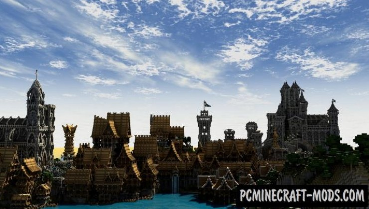 Lothaven - Castle, Town Map For Minecraft