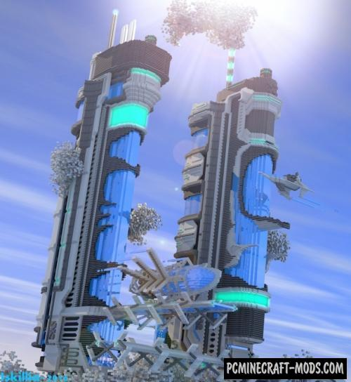 Futuristic tower Map For Minecraft