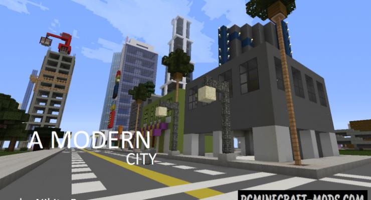 Modern City Map For Minecraft 1 14 4 1 14 3 Pc Java Mods