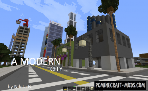 Modern city Map For Minecraft 1 14 4, 1 14 3 | PC Java Mods