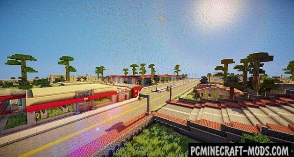 San Andreas - City Map For Minecraft