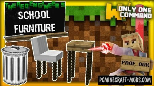 School furniture Command Block For Minecraft 1.8.9