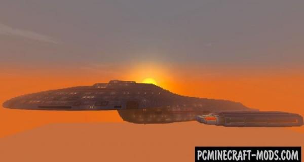 Star Trek Voyager - 3D Art Map For Minecraft