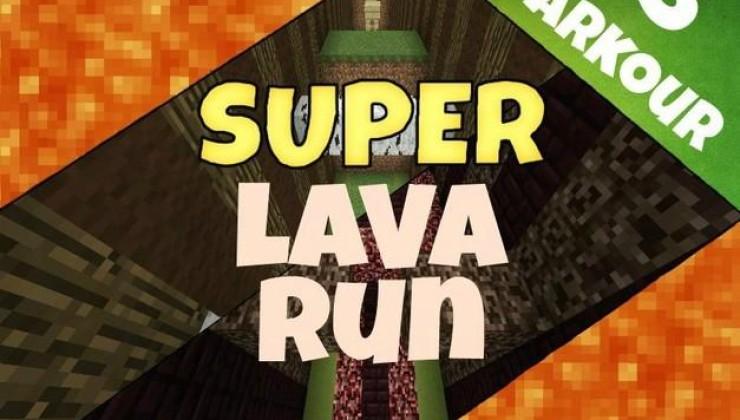 Super Lava Run - Parkour Map For Minecraft