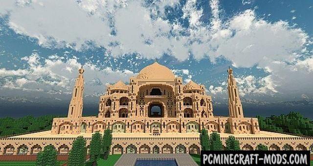 Taj Mahal - Castle, Building Map For Minecraft