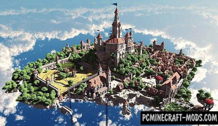 Terados SkyLand - Castle, City Map For Minecraft