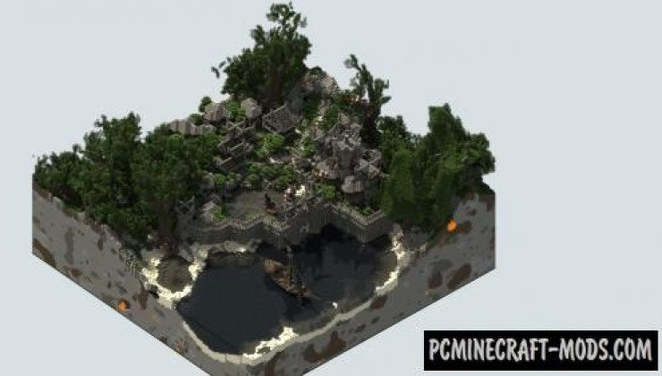 Valkyrin Fortress - Town Map For Minecraft