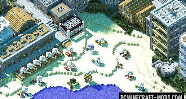 Vertoak City - Buildings Map For Minecraft