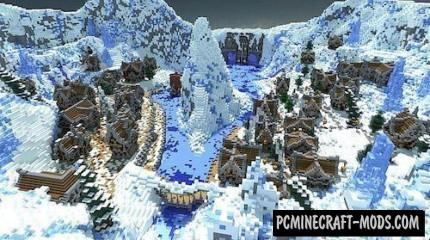 Winter's Secret Map For Minecraft
