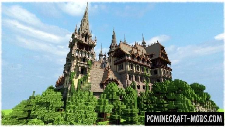 Vitruvian Castle Map For Minecraft
