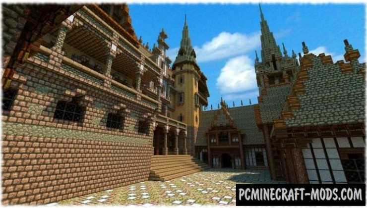 Vitruvian Castle Map For Minecraft