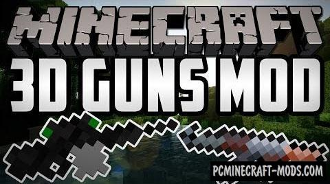 New Stefinus 3D Guns Mod For Minecraft 1.7.10