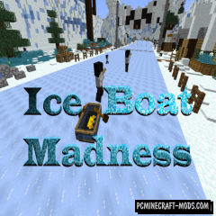 Ice Boat Madness Map For Minecraft