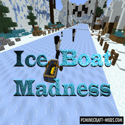 Ice Boat Madness - Minigame Map For Minecraft