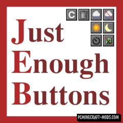 Just Enough Buttons - GUI Mod For Minecraft 1.14.4, 1.12.2