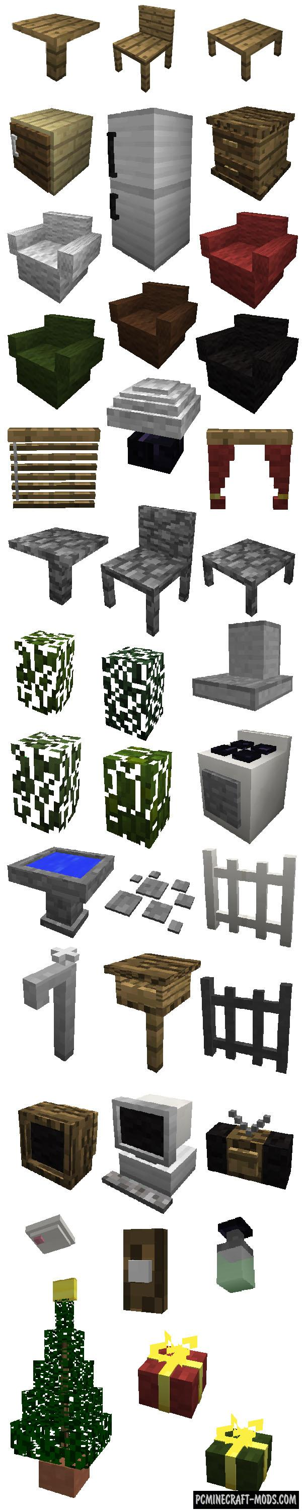 Mrcrayfish 39 s furniture mod for minecraft 1 for Furniture mod 1 12 2