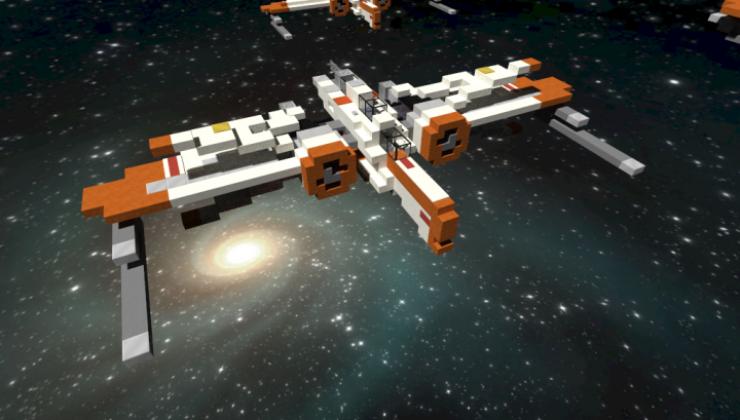 ARC-170 Starfighter - 3D Art Map For Minecraft